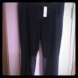 Black Legging (faux leather lower part of leg)
